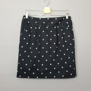 Gap Navy White Polkadot Cotton Pencil skirt Sz 10